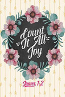 Count It All Joy: Bible Verse Quote Cover Composition Notebook Portable