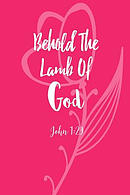 Behold the Lamb of God: Bible Verse Quote Cover Composition Notebook Portable