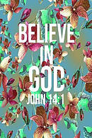 Believe in God: Bible Verse Quote Cover Composition Notebook Portable
