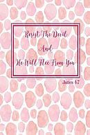 Resist the Devil, and He Will Flee from You: Bible Verse Quote Cover Composition Notebook Portable