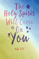 The Holy Spirit Will Come on You: Bible Verse Quote Cover Composition Notebook Portable