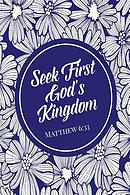 Seek First God's Kingdom: Bible Verse Quote Cover Composition Notebook Portable
