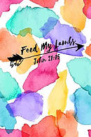 Feed My Lambs: Bible Verse Quote Cover Composition Notebook Portable