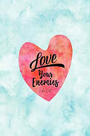 Love Your Enemies: Bible Verse Quote Cover Composition Notebook Portable