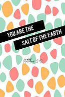You Are the Salt of the Earth: Bible Verse Quote Cover Composition Notebook Portable