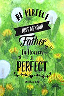 Be Perfect, Just as Your Father in Heaven Is Perfect: Bible Verse Quote Cover Composition Notebook Portable