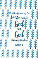 He Who Remains in Love Remains in God, and God Remains in Him: Bible Verse Quote Cover Composition Notebook Portable