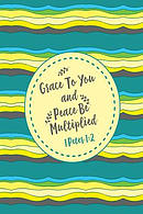 Grace to You and Peace Be Multiplied: Bible Verse Quote Cover Composition Notebook Portable
