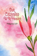 Our Citizenship Is in Heaven: Bible Verse Quote Cover Composition Notebook Portable