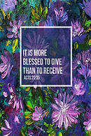 It Is More Blessed to Give Than to Receive: Bible Verse Quote Cover Composition Notebook Portable