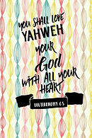 You Shall Love Yahweh Your God with All Your Heart: Bible Verse Quote Cover Composition Notebook Portable