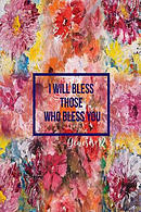 I Will Bless Those Who Bless You: Bible Verse Quote Cover Composition Notebook Portable