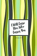 I Will Curse Him Who Curses You: Bible Verse Quote Cover Composition Notebook Portable