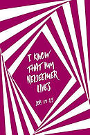 I Know That My Redeemer Lives: Bible Verse Quote Cover Composition Notebook Portable