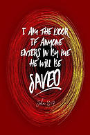 I Am the Door, If Anyone Enters in by Me, He Will Be Saved: Bible Verse Quote Cover Composition Notebook Portable
