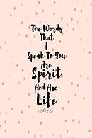 The Words That I Speak to You Are Spirit, and Are Life: Bible Verse Quote Cover Composition Notebook Portable