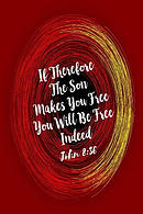 If Therefore the Son Makes You Free, You Will Be Free Indeed: Bible Verse Quote Cover Composition Notebook Portable