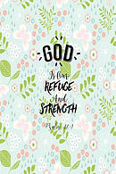 God Is Our Refuge and Strength: Bible Verse Quote Cover Composition Notebook Portable