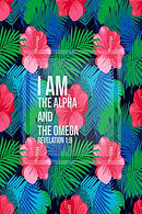 I Am the Alpha and the Omega: Bible Verse Quote Cover Composition Notebook Portable