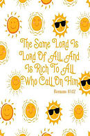 The Same Lord Is Lord of All, and Is Rich to All Who Call on Him: Bible Verse Quote Cover Composition Notebook Portable
