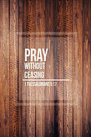 Pray Without Ceasing: Bible Verse Quote Cover Composition Notebook Portable