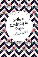Continue Steadfastly in Prayer: Bible Verse Quote Cover Composition Notebook Portable
