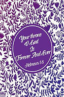 Your Throne, O God, Is Forever and Ever: Bible Verse Quote Cover Composition Notebook Portable