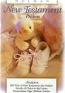 KJV Babys New Testament & Psalms: White, Imitation Leather
