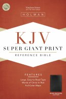 KJV Super Giant Print Reference Black Imitation Leather