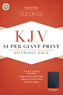 KJV Super Giant Print Reference Bible: Blue, Imitation Leather