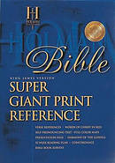 KJV Bible Super Giant Print Reference Burgundy Imitation Leather