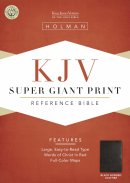 KJV Super Giant Print Reference Bible: Black, Bonded Leather