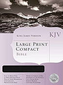 KJV Holman Large Print Compact Bible, Burgundy Bonded Leather