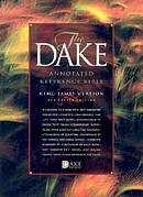 KJV Dake Annotated Reference Bible Black Bonded Leather