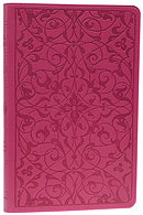 ESV Thinline Wild Rose Floral  Bible: Pink Trutone