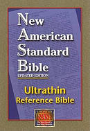 NAS Ultrathin Reference Bible Burgundy Bonded Leather