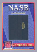 NASB Compact Bible Black Bonded Leather