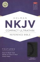 NKJV Compact UltraThin Reference Bible, Charcoal Imitation Leather