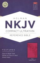 NKJV Compact UltraThin Reference Bible, Pink Imitation Leather