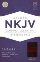 NKJV Compact UltraThin Reference Bible, Saddle Brown Imitation Leather