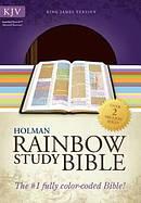KJV Rainbow Study Bible Brown Imitation Leather