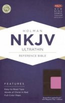 NKJV Ultrathin Reference Bible Indexed Brown/Pink LeatherTouch with Magnetic Flap