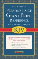 KJV Personal Size Giant Print Reference Bible: Burgundy, Imitation Leather
