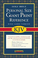 KJV Personal Size Giant Print Reference Bible: Black, Bonded Leather
