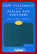 KJV New Testament with Psalms and Proverbs: Blue, Imitation Leather