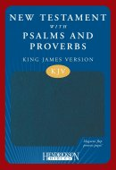 KJV New Testament with Psalms and Proverbs: Blue, Imitation Leather with Magnetic Flap