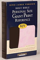 KJV Personal Size Giant Print Reference Bible: Chocolate on Pink, Flexisoft