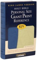 KJV Personal Size Reference Bible: Blue & Green, Flexisoft, Giant Print