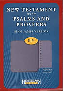 KJV New Testament with Psalms and Proverbs: Lavender, Imitation Leather, Flap Closure