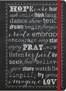Hope, Pray, Love- Inspirational Message Blank Journals